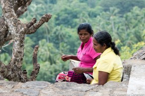 Local women near the cave templ, Dambulla, Sri Lanka