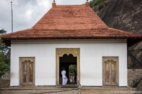 Entrance to the cave temple in Dambulla
