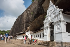 Outside the cave temple, Dambulla, Sri Lanka