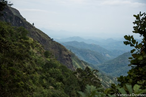 The view in hill country, Sri Lanka.