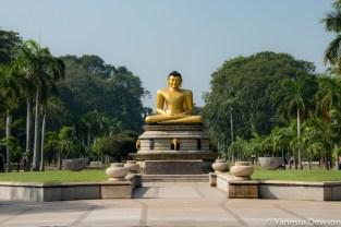 Buddha in a park across Town Hall