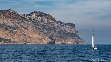 The colour of the rock changes after Cassis. Photo by: Vanessa Dewson