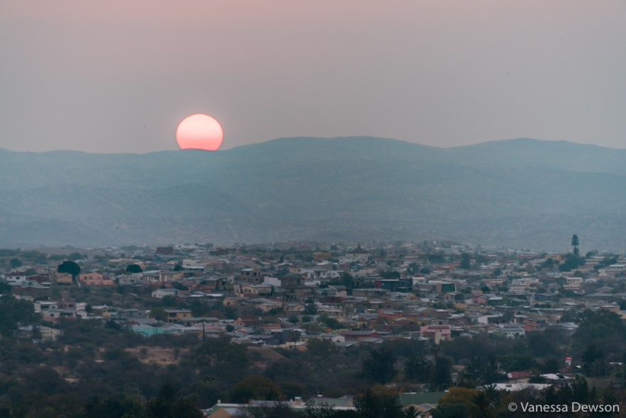Sunset over Windhoek.