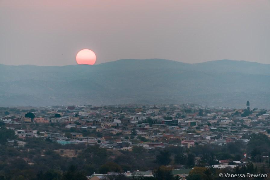 Sunset over Windhoek.