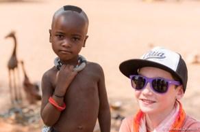 Himba Girl & Canadian Boy