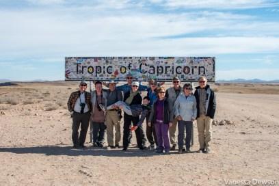 We crossed the tropic of Capricorn!
