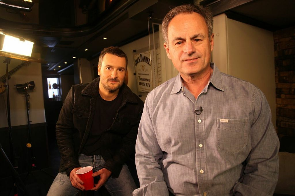Eric Church with CBS' Mark Strassmann Courtesy: Jill Trunnell