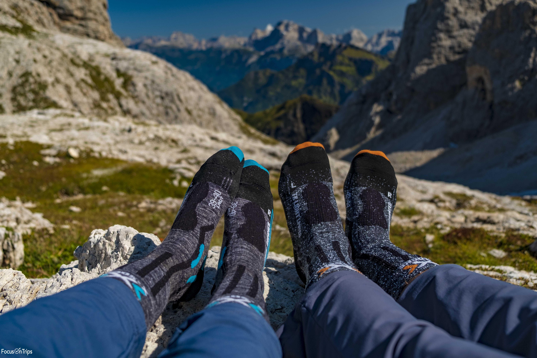 calzini trekking Dolomiti rifugio Mulaz