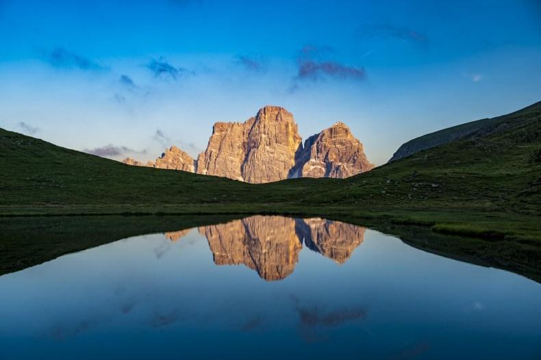 mondeval tenda dolomiti lago delle baste monte pelmo
