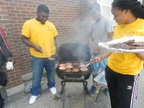 FOY staff preparing BBQ lunch