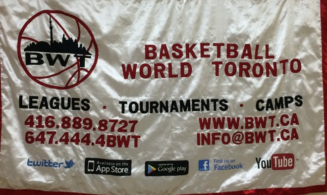 Basketball World Toronto Logo