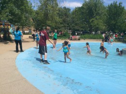 Wading pool at Dovercourt Park just behind the main location building