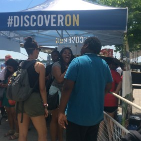 DPC youth signing up for activities at the Celebration Zone