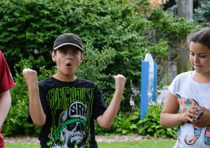 Camper feeling victorious for choosing a sick camp!
