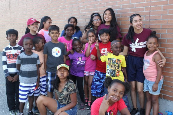 Campers and FOY staff posing for a group photo.
