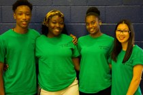 FOY Staff (Left to Right) : Dominic (BMT), Victoria (BMT), Renee (BMT), Brenda (Grad)
