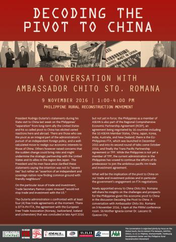 Decoding the Pivot to China: A conversation with Ambassador Chito Sto. Romana