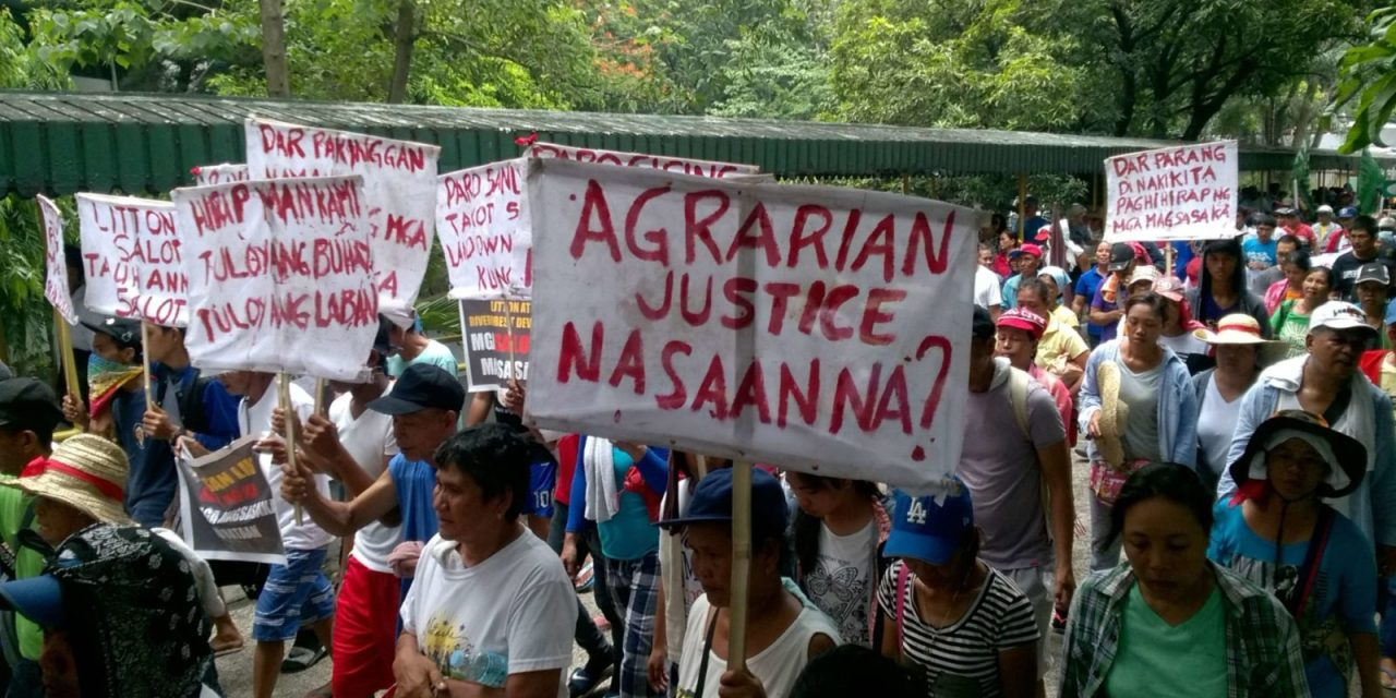 """Amidst """"Martial law-like rule,"""" Eviction, Harassment, Criminalization of their Struggle, Farmers Demand Agrarian Reform & Justice"""