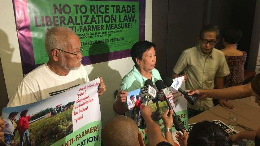 No to Rice Trade Liberalization Law, An Anti-Farmer Measure!