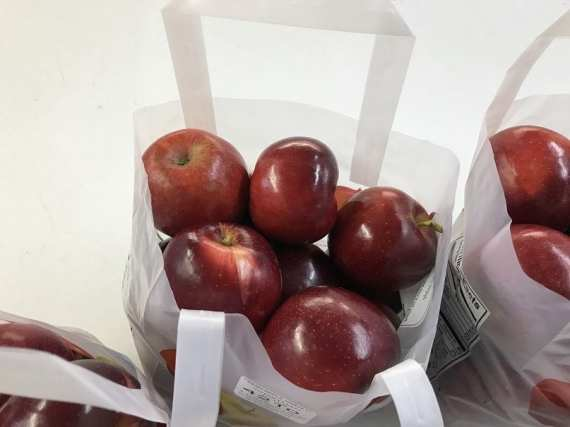 Jonathan Apples in a Tote