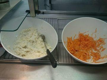 2016.06.20 Entrées navets râpés, carottes râpées 1
