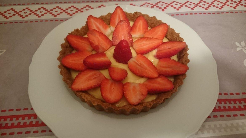 Tarte aux fraise pauvre en FODMAP 2