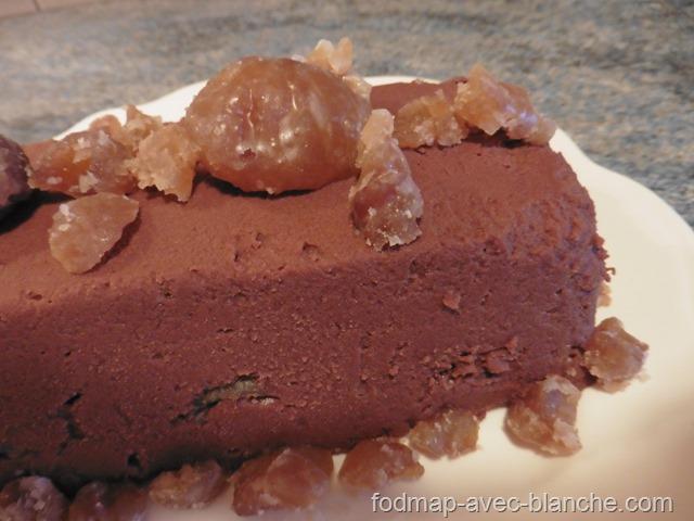 recette gâteau aux marrons sans cuisson pauvre en FODMAP sans lactose sans gluten 2