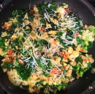 kale, quinoa and egg