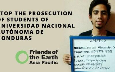 Letter: Stop the Prosecution of Students of Universidad Nacional Autónoma de Honduras
