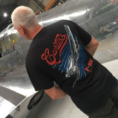 The Fighter Collection P-40 t-shirt rear view