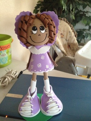 Craft foam Fofucha Doll Cutie In Lavender