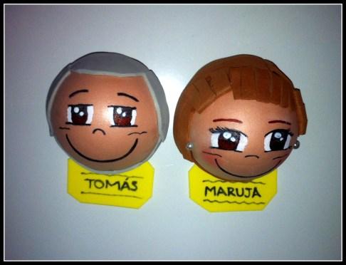 Fofuchas Imán: Tomás y Maruja