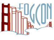 Logo for FOGcon, a genre fiction convention in the San Francisco Bay Area.