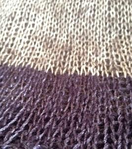 eggplant lace lux stockinette stitch