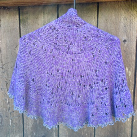 southern skies shawl knitting with beads