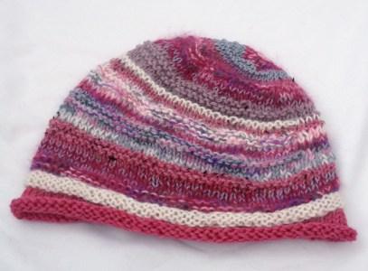 pink striped hat pink striped beanie pink beanie pink hat pink toque knitted beanie etsy knitting fogknits