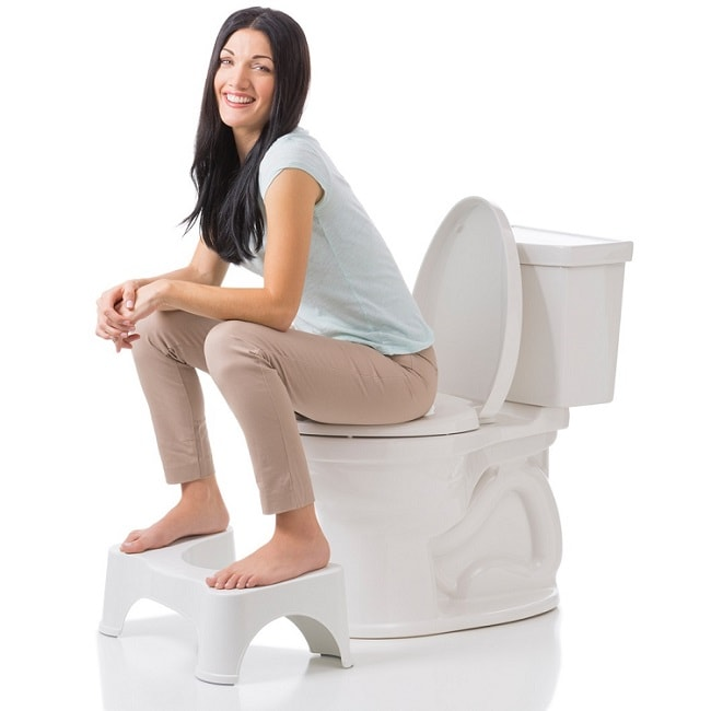 squat position in toilet to cure constipation