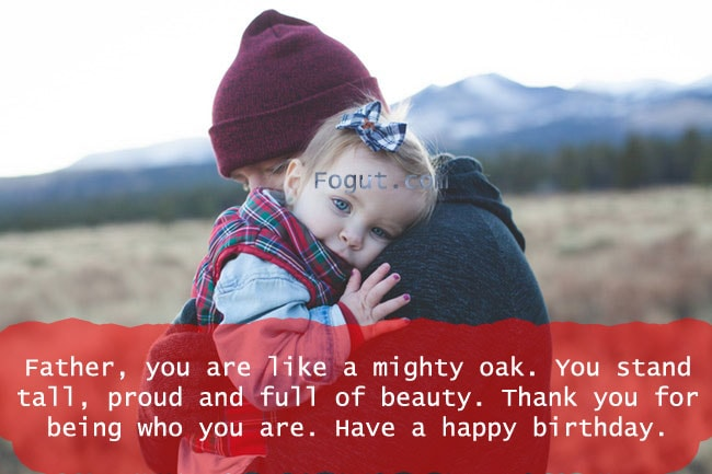 Father, you are like a mighty oak.
