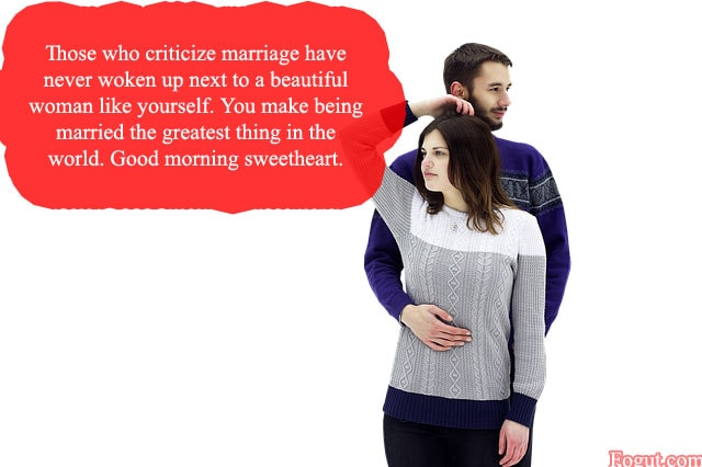 those who criticize marriage have never woken up