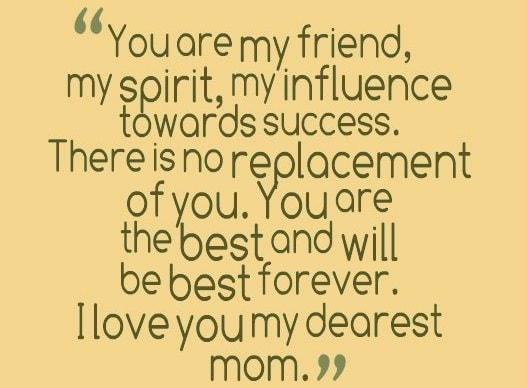 you are my friend mom
