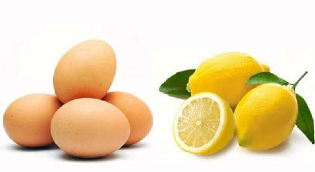 lemon with egg mask for hairs