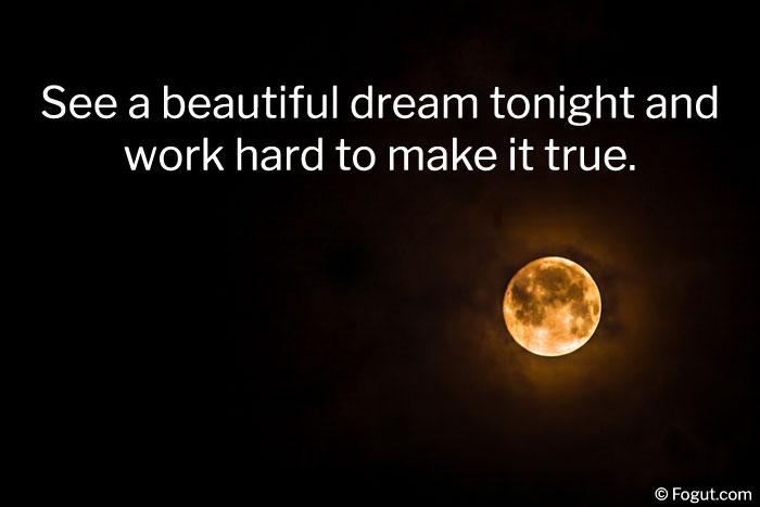 see a beautiful dream tonight