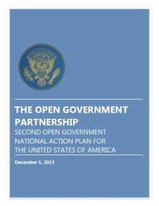 Open Government National Action Plan cover page
