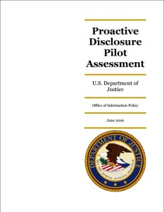 """OIP released its assessment of the """"Release to One"""" pilot program in June 2016."""