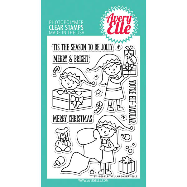 Avery Elle Elf Tacular Stamp Set The Foiled Fox