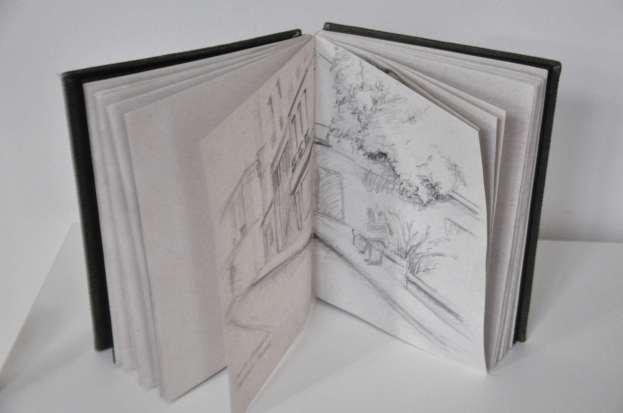 Le cahier dans lequel je dessine et écrit.