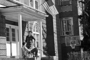 Une maison d'une fraternité de l'université.