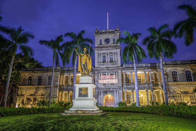 fokopoint-8196 King Kamehameha Statue at Ali'iolani hale