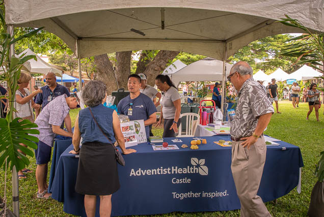 adventist-health-castle-booth-vegfest-oahu-fokopoint VegFest Oahu 2019