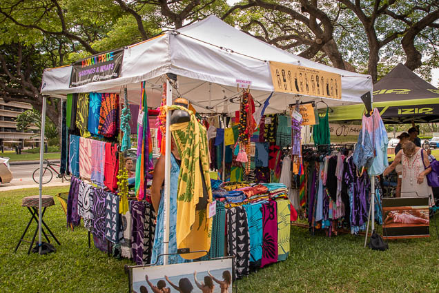 hawaii-pride-sarongs-wraps-fokopoint VegFest Oahu 2019